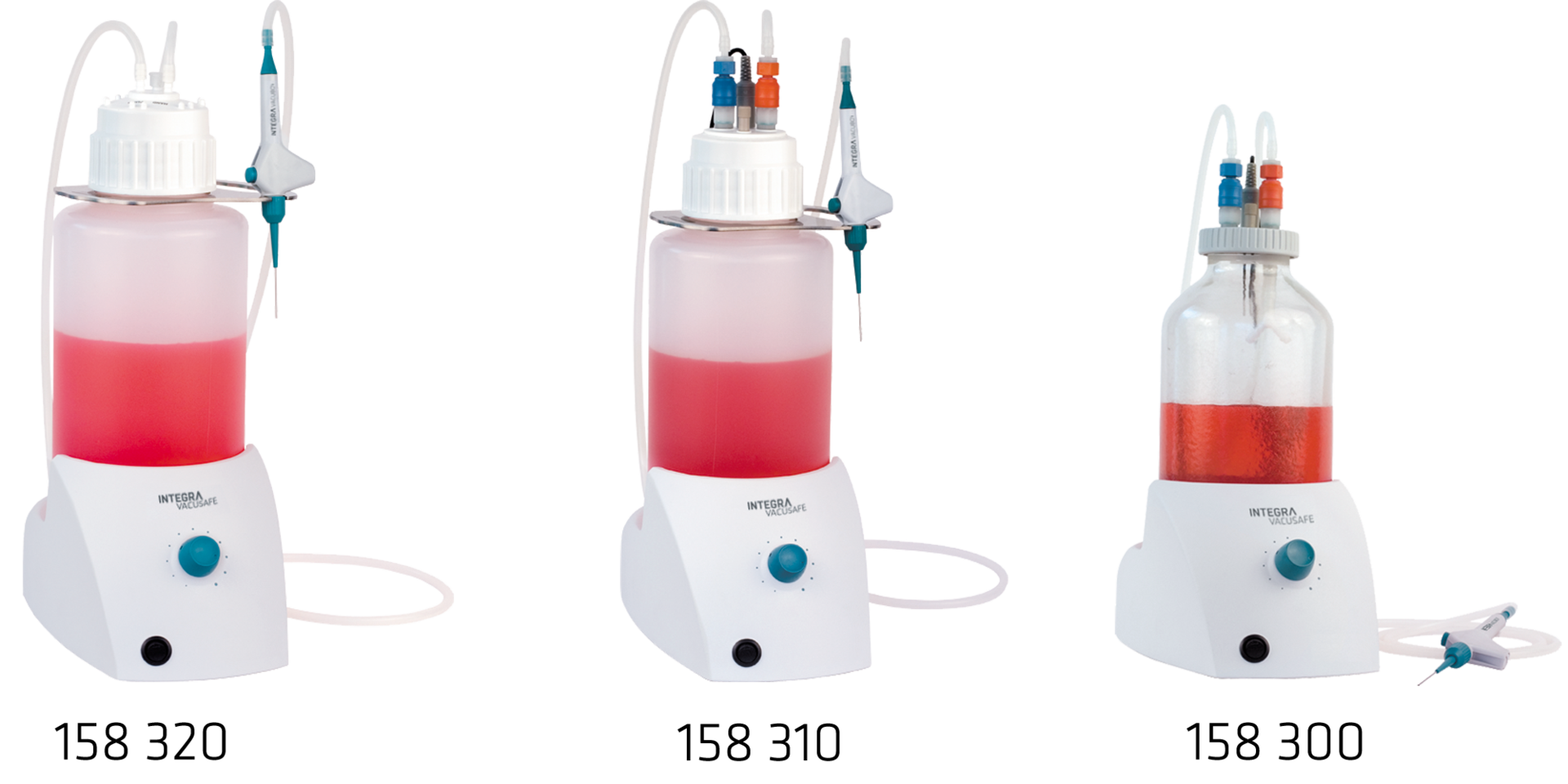 Full range of VACUSAFE aspiration system