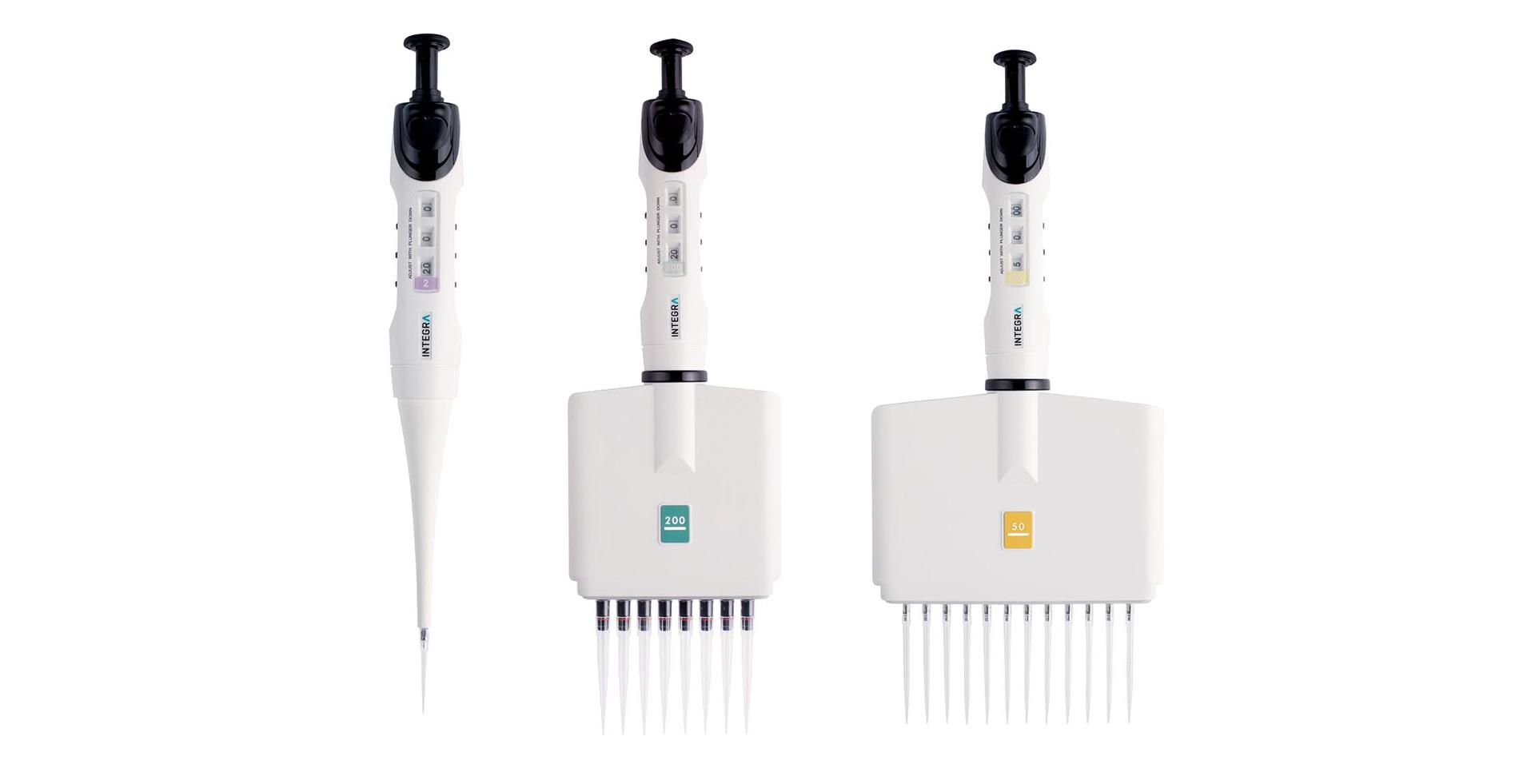 Single-, 8-, and 12-channel EVOLVE manual pipette