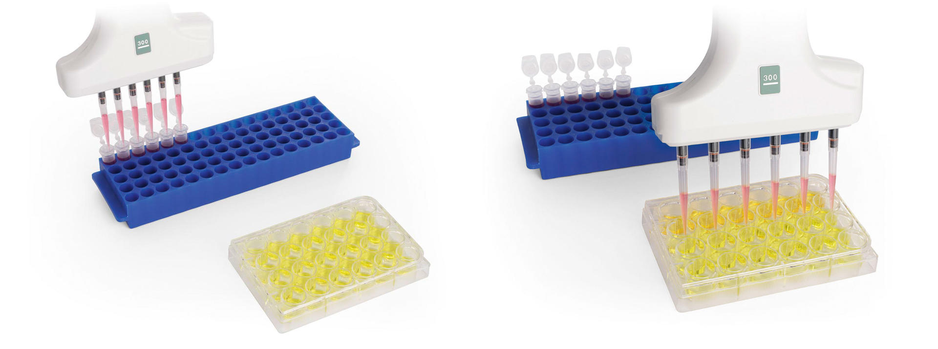 Transfer from tubes to plates using a VOYAGER II pipette