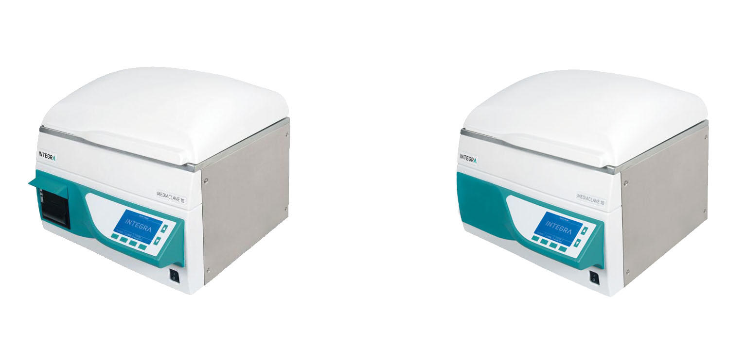 MEDIACLAVE 10 media sterilizers with and without printer