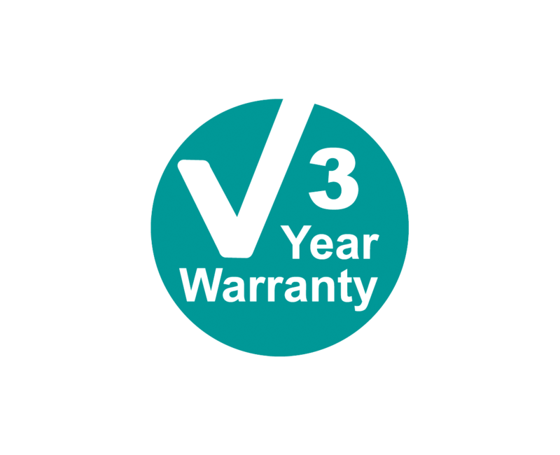 PIPETBOY 3 year warranty symbol