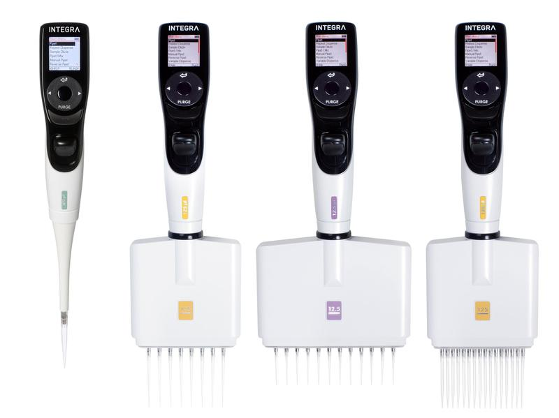 INTEGRA's range of VIAFLO electronic pipettes.