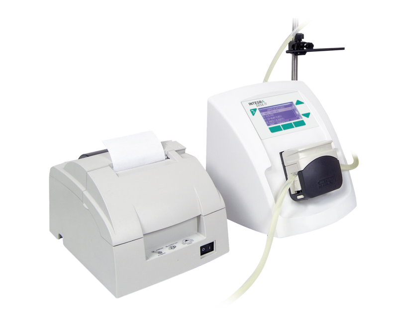 DOSE IT peristaltic pump connected to external printer