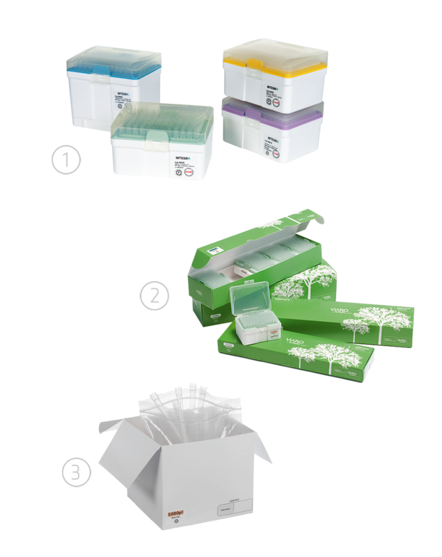 GripTip pipette tips packaging options
