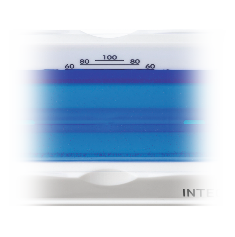 Clear Graduations on INTEGRA reagent reservoirs making it easier to identify the exact desired volume line.