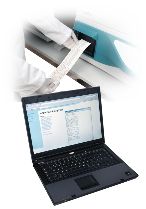 MEDIACLAVE 10/30 media sterilizers are equipped for process documentation/validation according to FDA and GMP